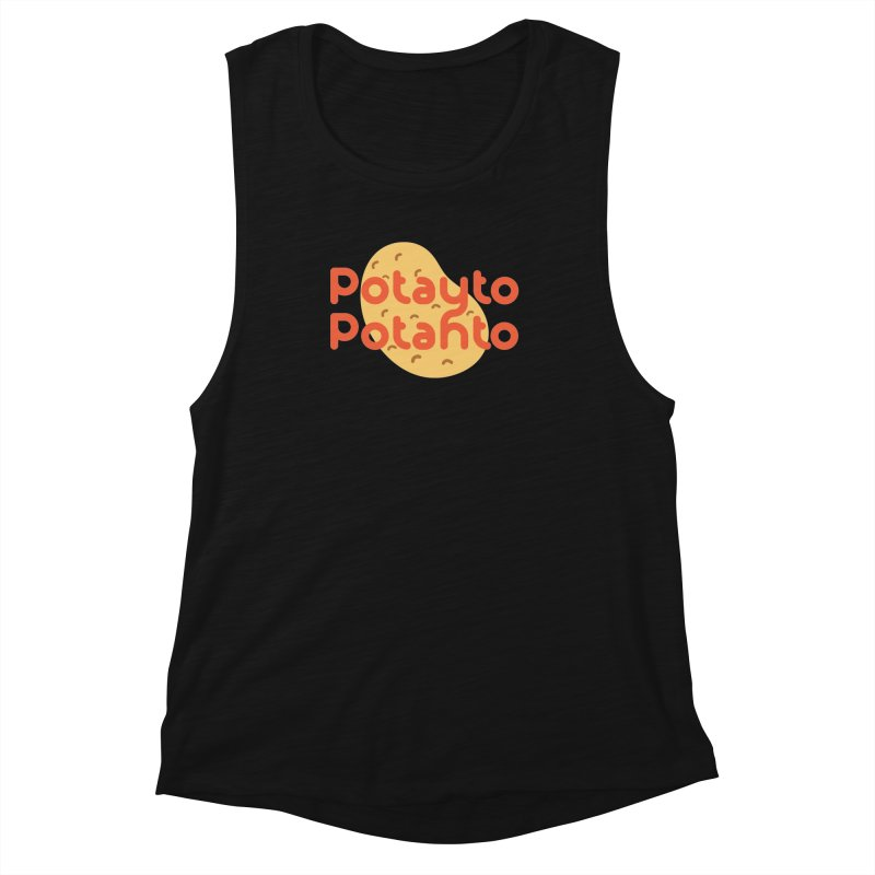 Potayto Potahto Women's Muscle Tank by Sidewise Clothing & Design