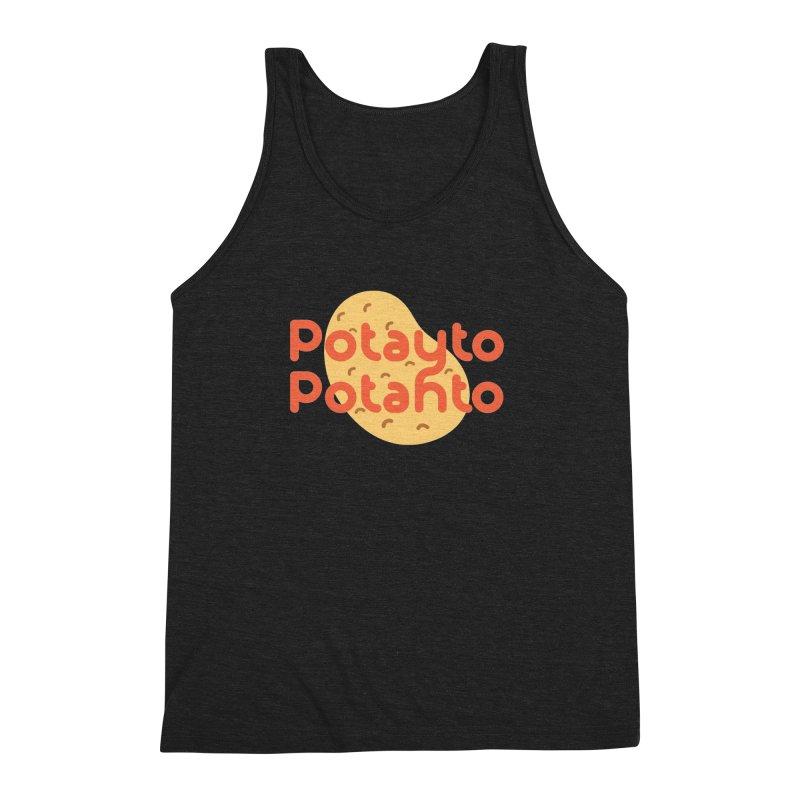 Potayto Potahto Men's Triblend Tank by Sidewise Clothing & Design