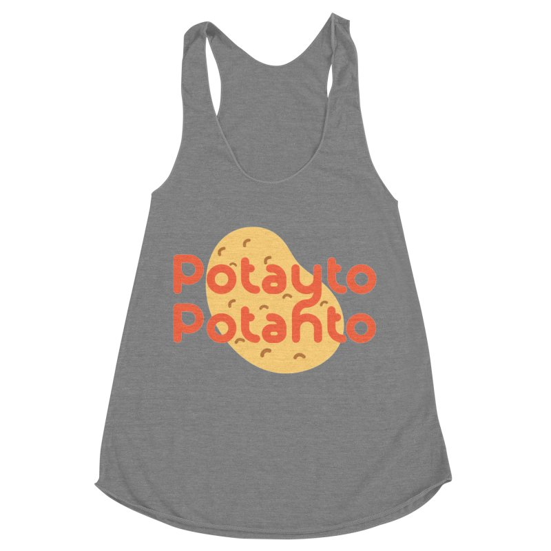 Potayto Potahto Women's Racerback Triblend Tank by Sidewise Clothing & Design
