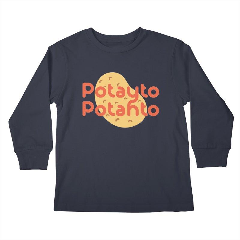 Potayto Potahto Kids Longsleeve T-Shirt by Sidewise Clothing & Design
