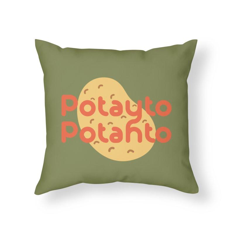 Potayto Potahto Home Throw Pillow by Sidewise Clothing & Design
