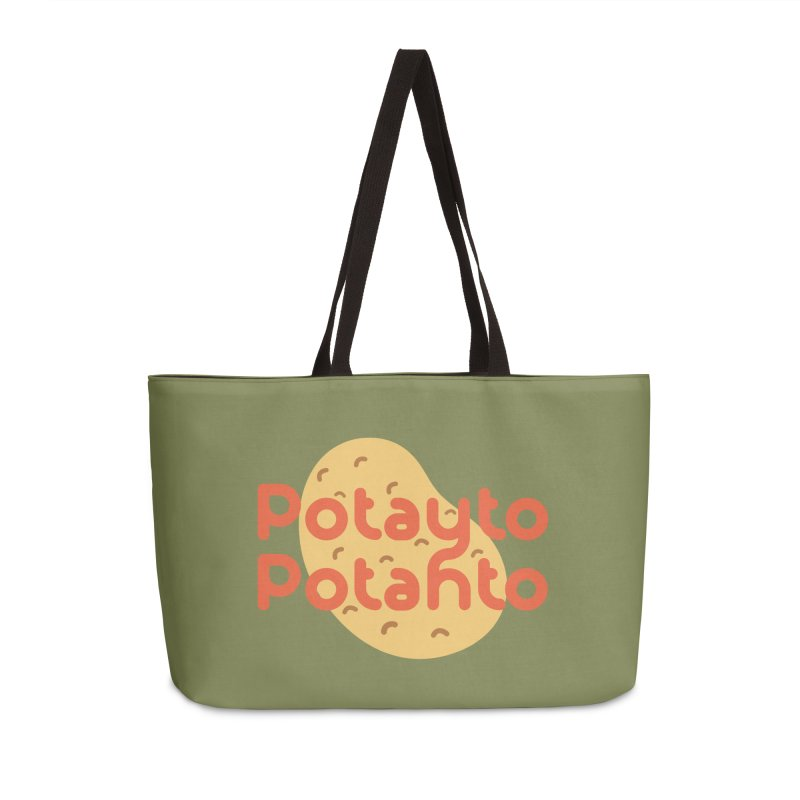 Potayto Potahto Accessories Weekender Bag Bag by Sidewise Clothing & Design