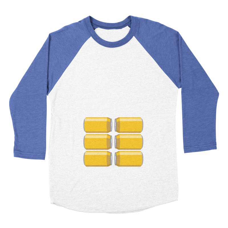 6-PACK ABS Men's Baseball Triblend Longsleeve T-Shirt by Sidewise Clothing & Design