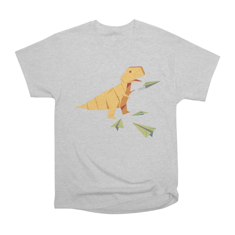 T-rex Dinosaur Origami flying paper planes Men's T-Shirt by Sidewise Clothing & Design