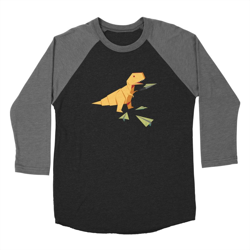 T-rex Dinosaur Origami flying paper planes Women's Longsleeve T-Shirt by Sidewise Clothing & Design