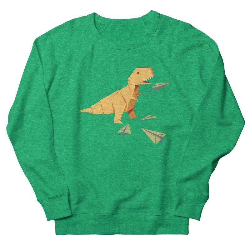 T-rex Dinosaur Origami flying paper planes Women's Sweatshirt by Sidewise Clothing & Design