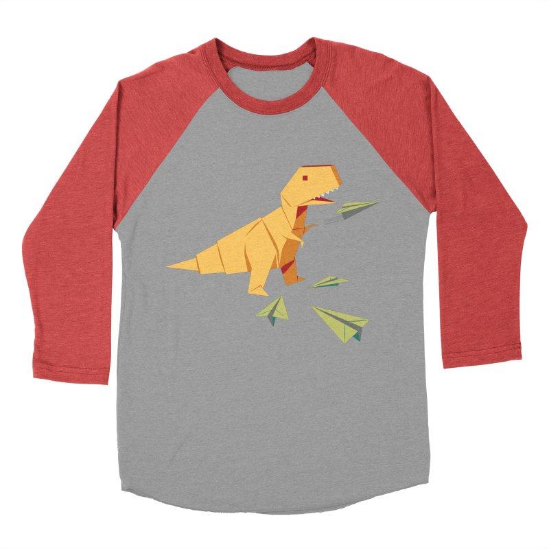 DINORIGAMI Women's Baseball Triblend T-Shirt by Sidewise Clothing & Design