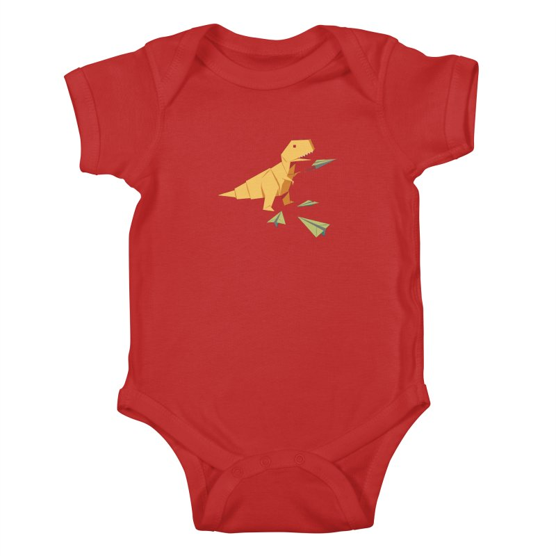 DINORIGAMI Kids Baby Bodysuit by Sidewise Clothing & Design