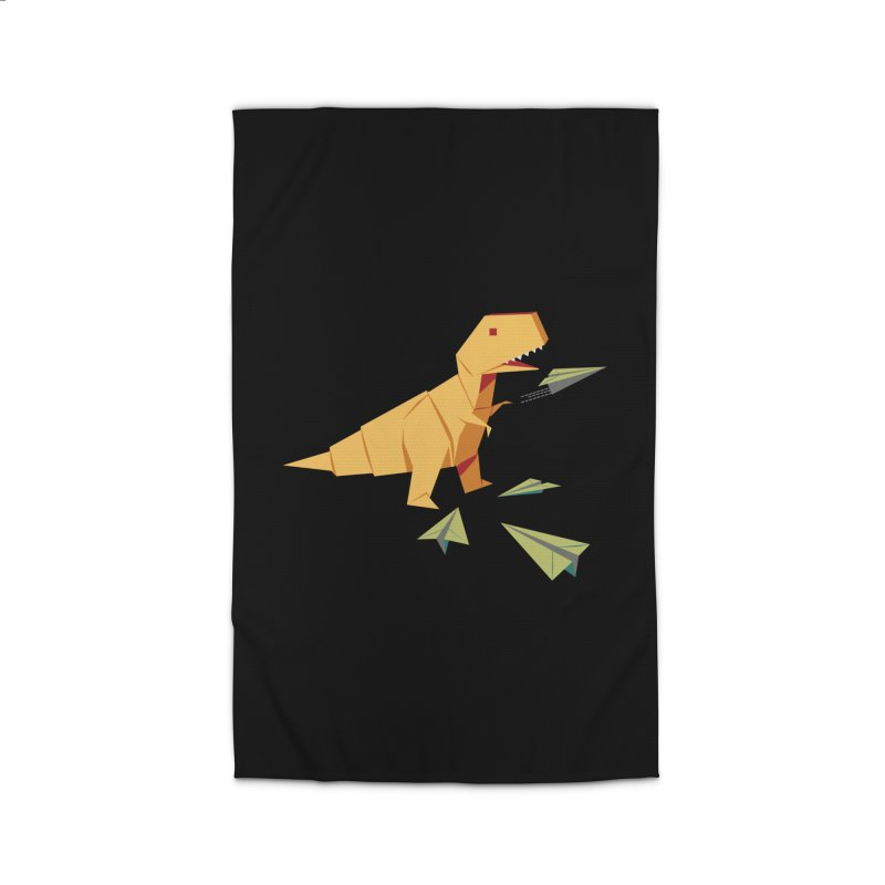 T-rex Dinosaur Origami flying paper planes Home Rug by Sidewise Clothing & Design