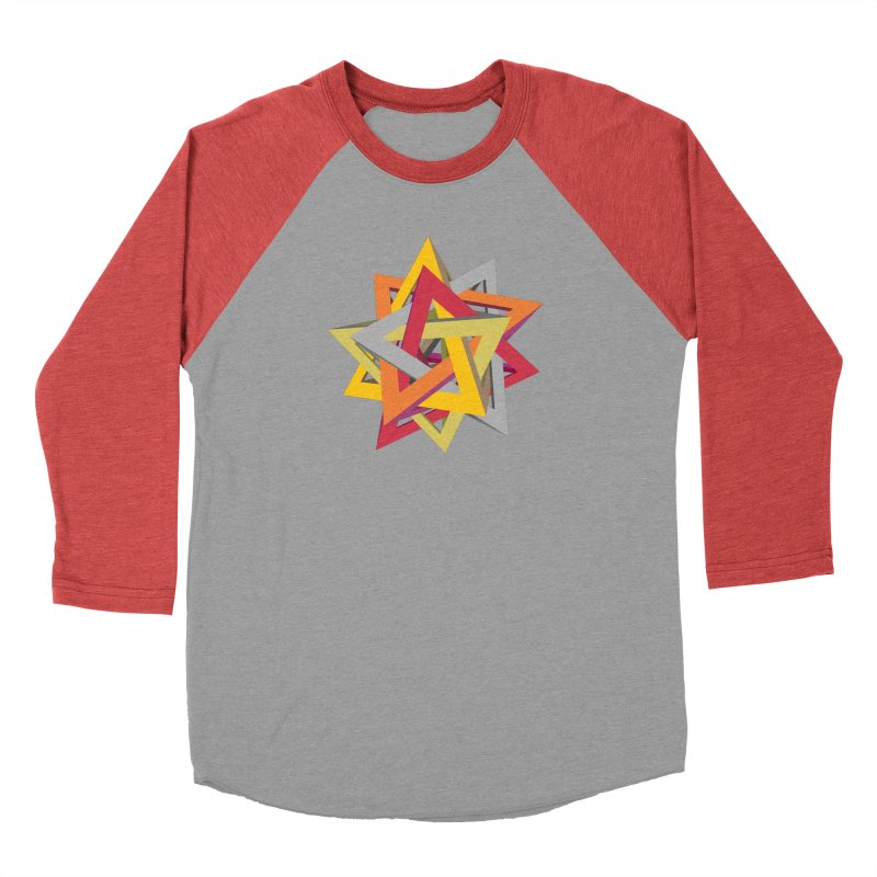 TANGLED TRIANGLES Men's Longsleeve T-Shirt by Sidewise Clothing & Design