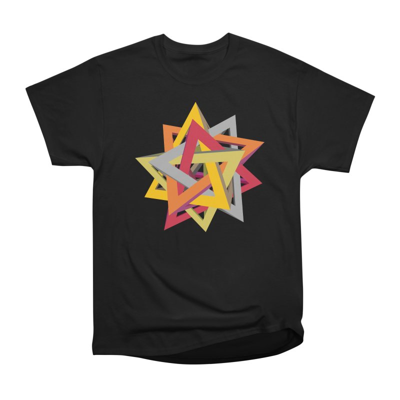 TANGLED TRIANGLES in Women's Classic Unisex T-Shirt Black by Sidewise Clothing & Design