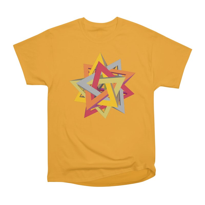 TANGLED TRIANGLES Men's Classic T-Shirt by Sidewise Clothing & Design