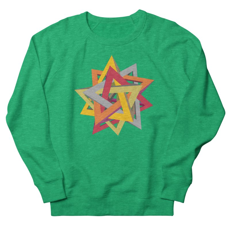 TANGLED TRIANGLES Women's French Terry Sweatshirt by Sidewise Clothing & Design