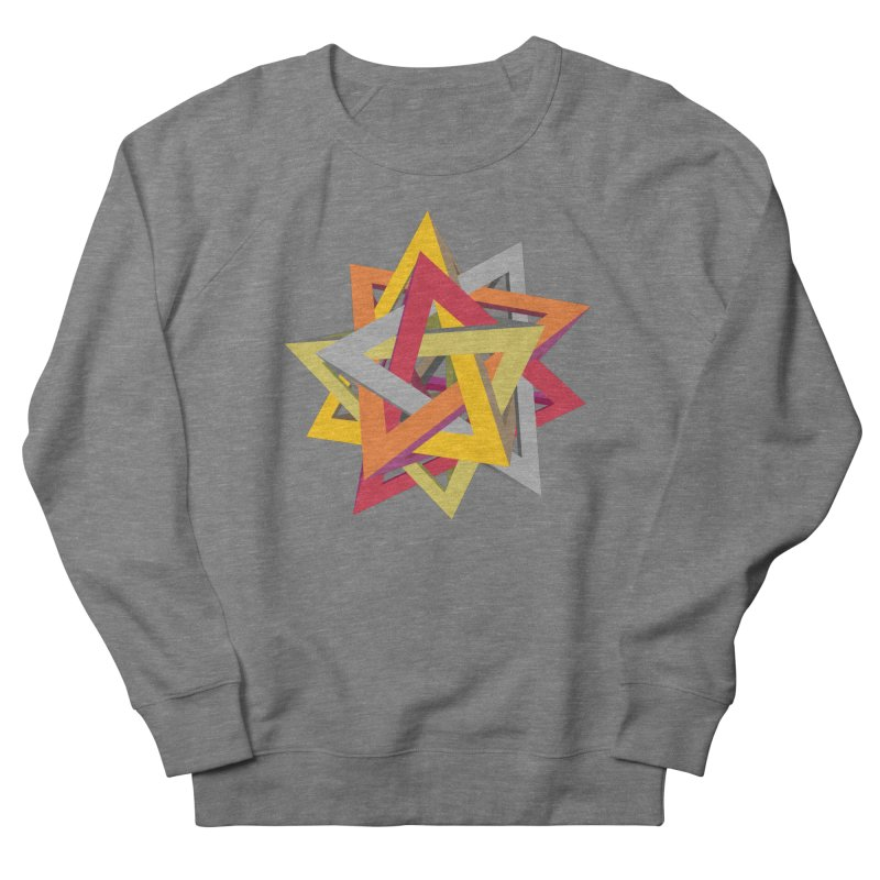 TANGLED TRIANGLES Women's Sweatshirt by Sidewise Clothing & Design