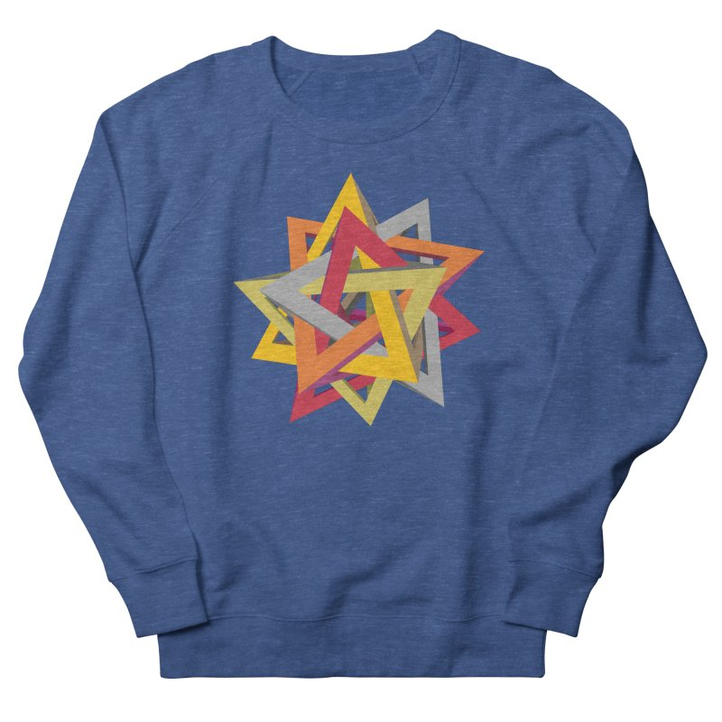 TANGLED TRIANGLES Men's Sweatshirt by Sidewise Clothing & Design
