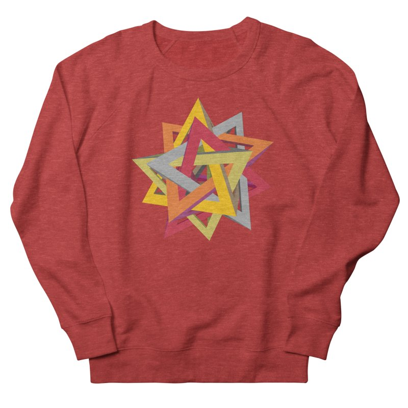 TANGLED TRIANGLES Men's French Terry Sweatshirt by Sidewise Clothing & Design