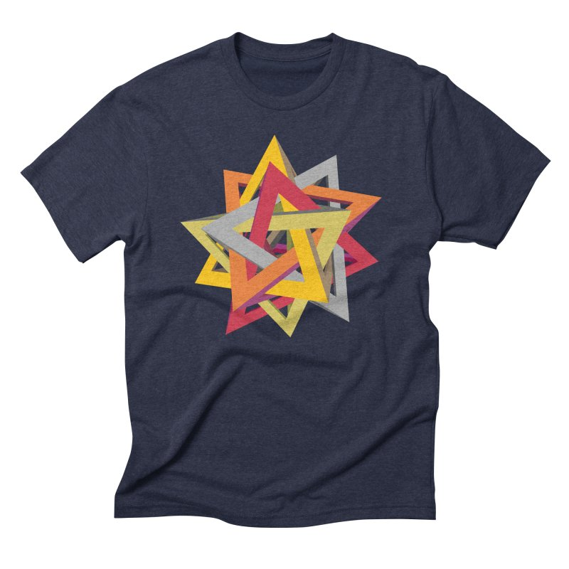 TANGLED TRIANGLES Men's Triblend T-Shirt by Sidewise Clothing & Design
