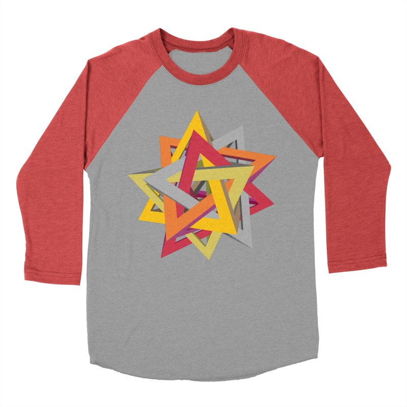 TANGLED TRIANGLES Women's Baseball Triblend Longsleeve T-Shirt by Sidewise Clothing & Design