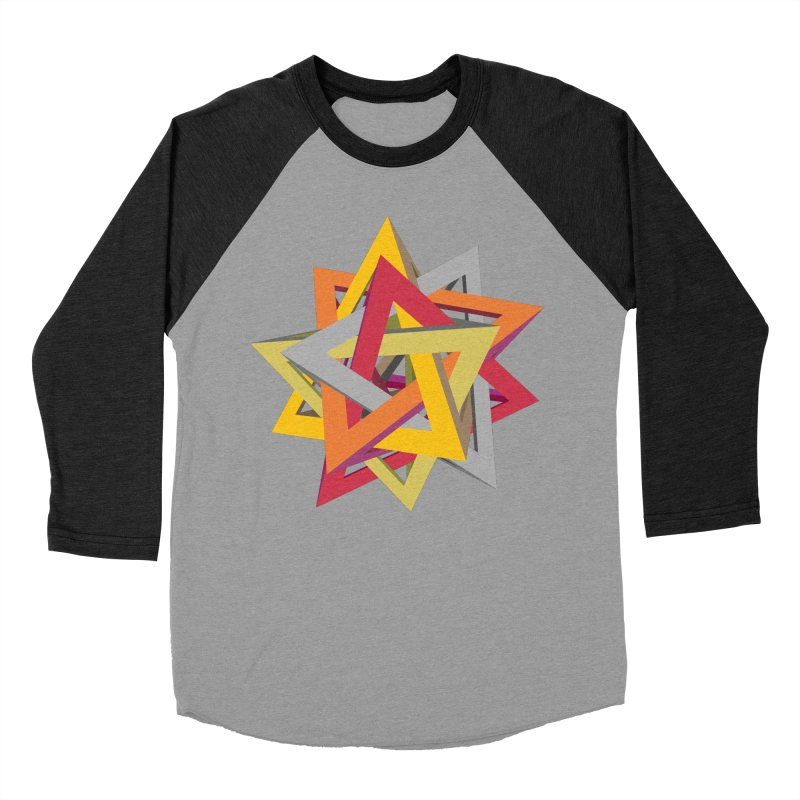 TANGLED TRIANGLES Men's Baseball Triblend T-Shirt by Sidewise Clothing & Design