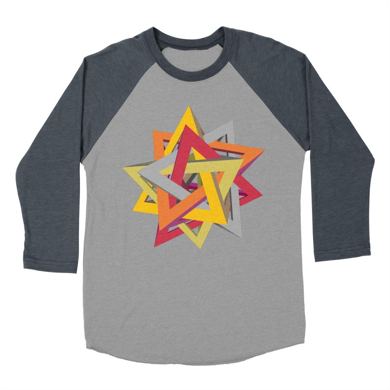 TANGLED TRIANGLES Men's Baseball Triblend Longsleeve T-Shirt by Sidewise Clothing & Design