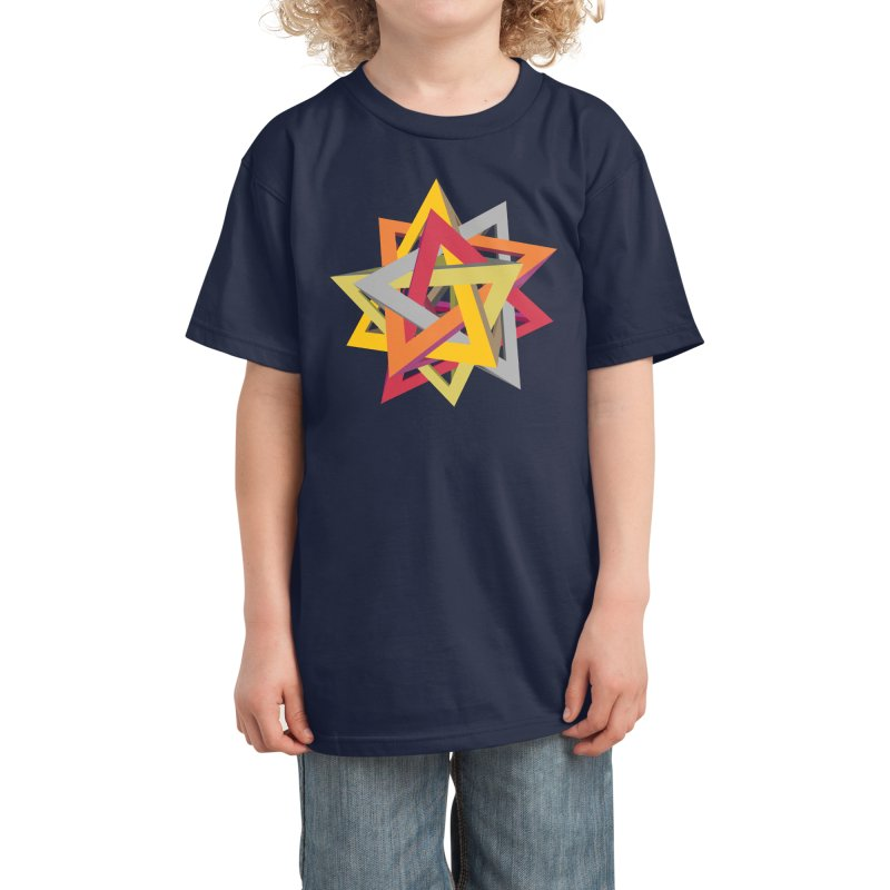TANGLED TRIANGLES Kids T-Shirt by Sidewise Clothing & Design