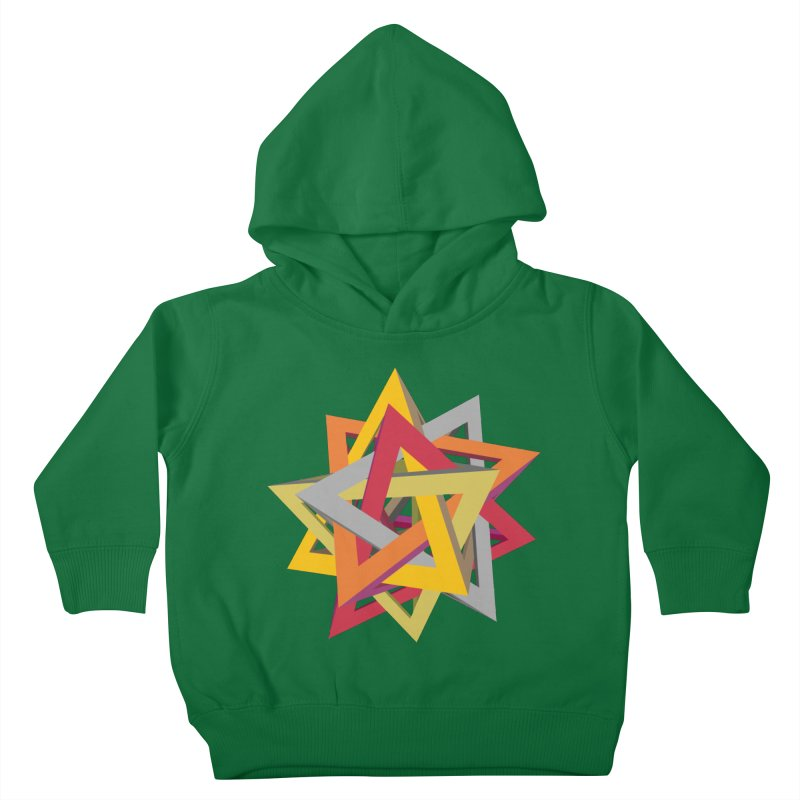 TANGLED TRIANGLES Kids Toddler Pullover Hoody by Sidewise Clothing & Design