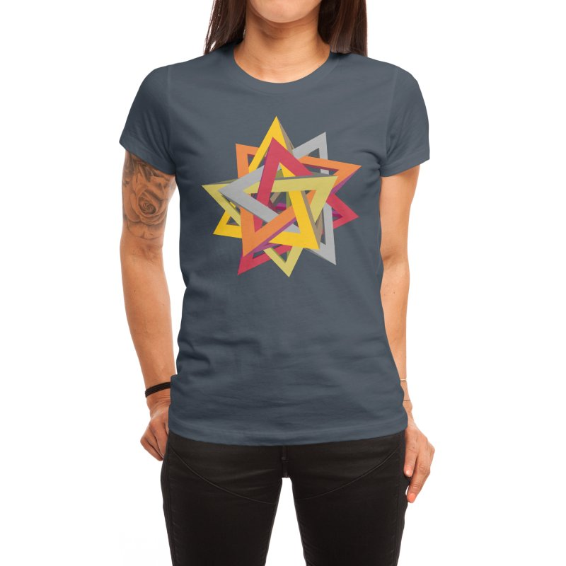 TANGLED TRIANGLES Women's T-Shirt by Sidewise Clothing & Design