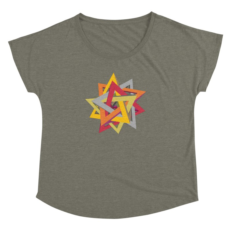 TANGLED TRIANGLES Women's Dolman by Sidewise Clothing & Design