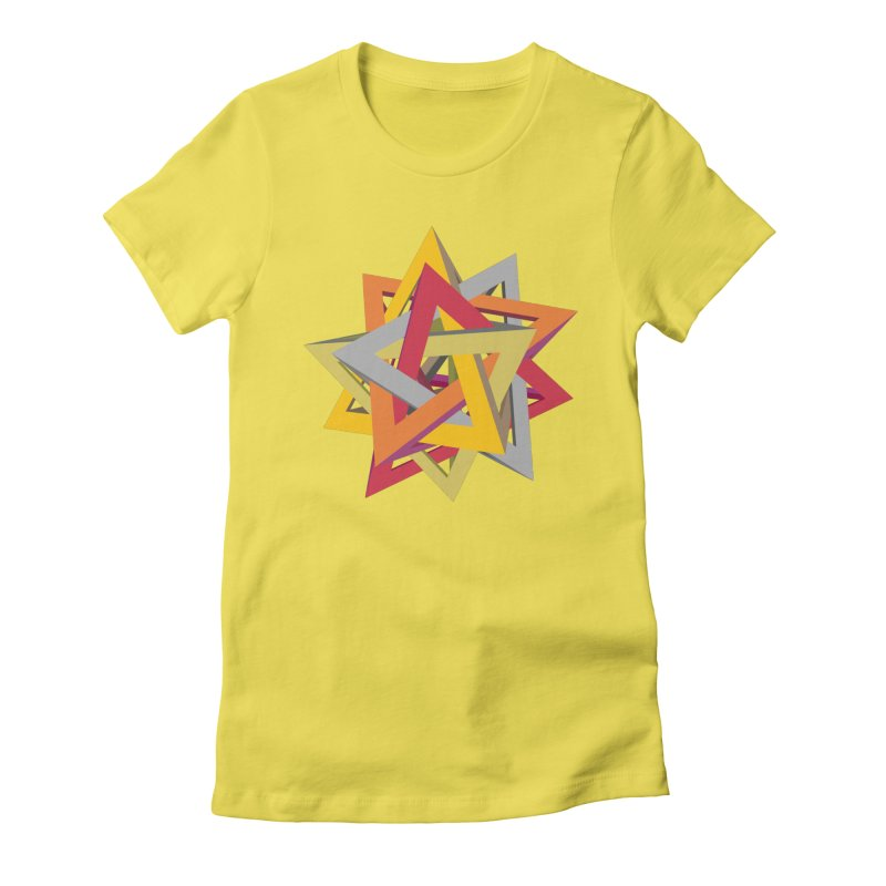 TANGLED TRIANGLES Women's Fitted T-Shirt by Sidewise Clothing & Design