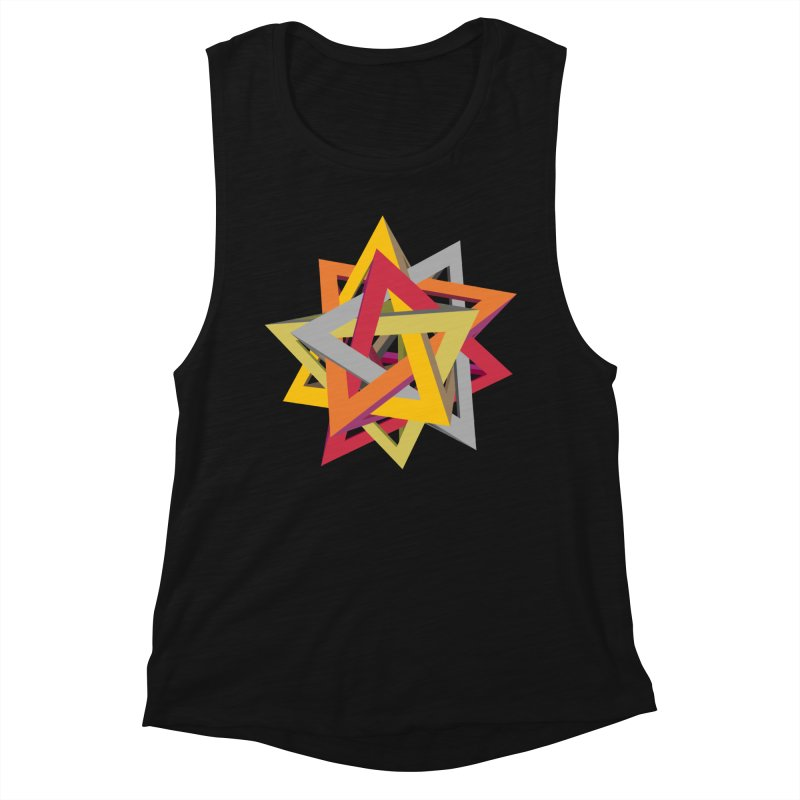 TANGLED TRIANGLES Women's Tank by Sidewise Clothing & Design