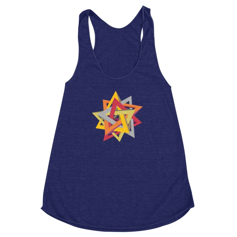 TANGLED TRIANGLES Women's Racerback Triblend Tank by Sidewise Clothing & Design