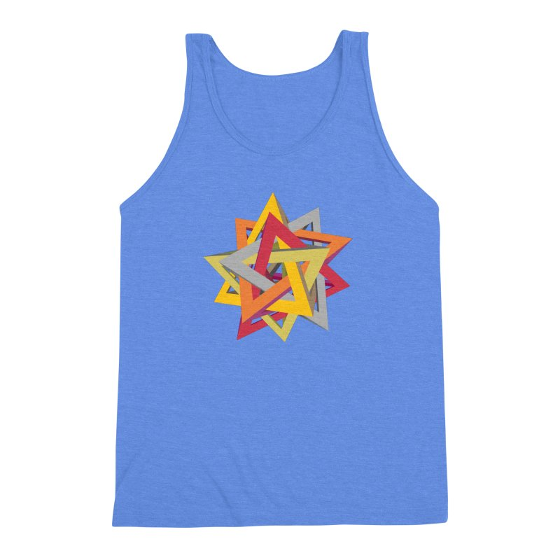 TANGLED TRIANGLES Men's Triblend Tank by Sidewise Clothing & Design