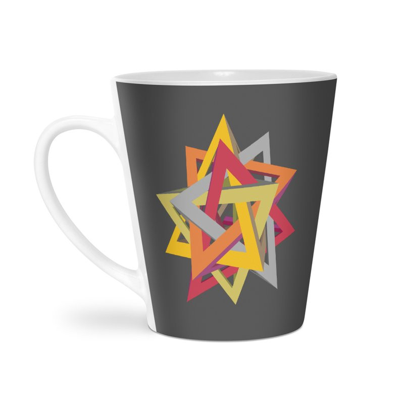 TANGLED TRIANGLES Accessories Latte Mug by Sidewise Clothing & Design