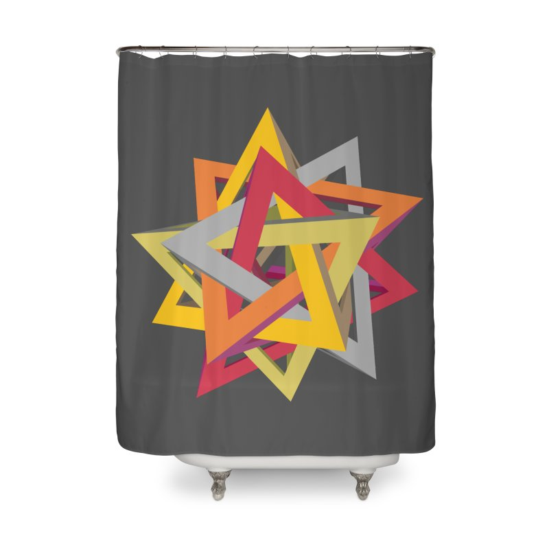 TANGLED TRIANGLES Home Shower Curtain by Sidewise Clothing & Design