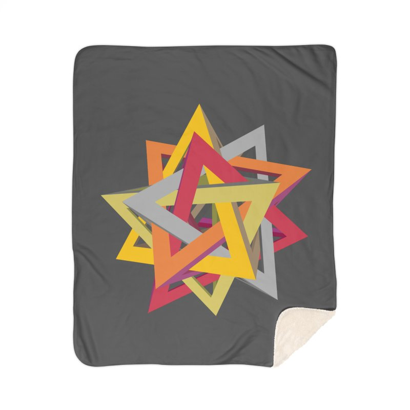 TANGLED TRIANGLES Home Sherpa Blanket Blanket by Sidewise Clothing & Design