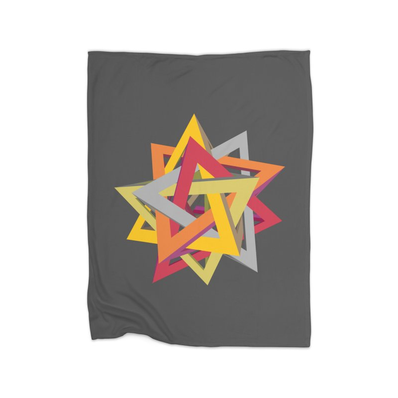 TANGLED TRIANGLES Home Fleece Blanket Blanket by Sidewise Clothing & Design