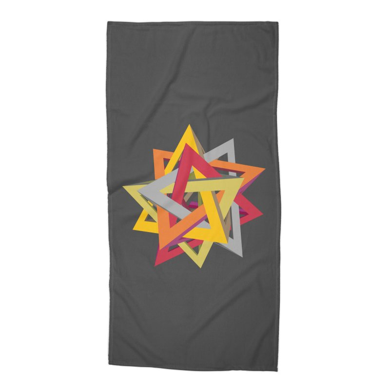 TANGLED TRIANGLES Accessories Beach Towel by Sidewise Clothing & Design