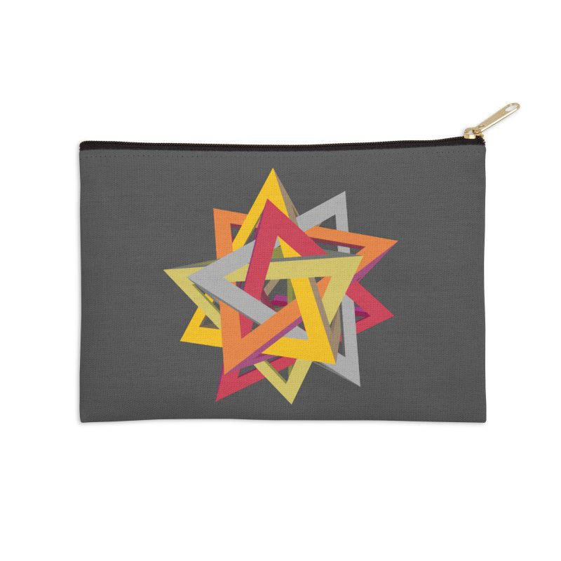 TANGLED TRIANGLES Accessories Zip Pouch by Sidewise Clothing & Design