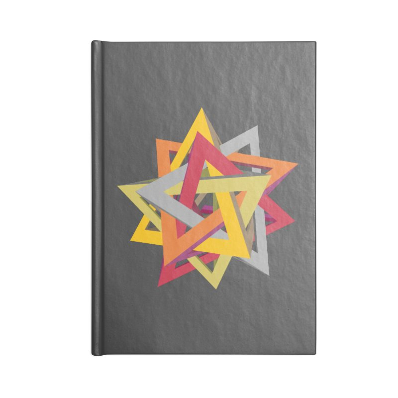 TANGLED TRIANGLES Accessories Notebook by Sidewise Clothing & Design