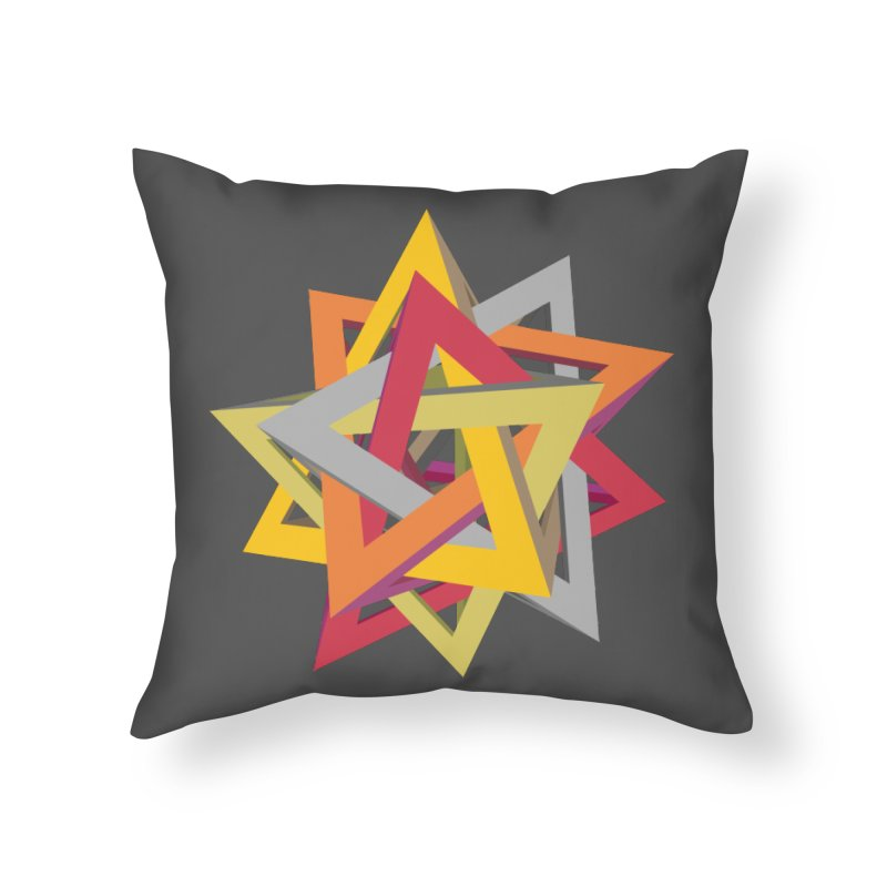 TANGLED TRIANGLES in Throw Pillow by Sidewise Clothing & Design