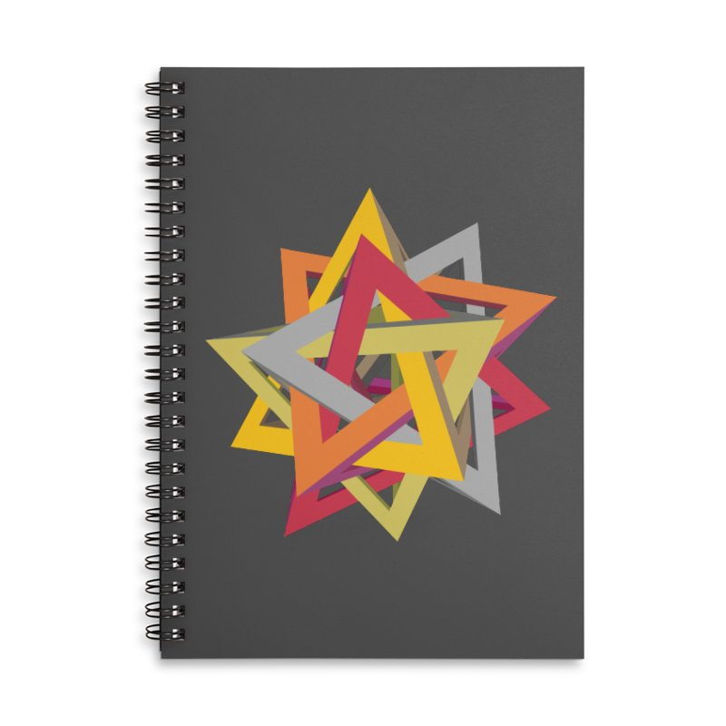 TANGLED TRIANGLES Accessories Lined Spiral Notebook by Sidewise Clothing & Design