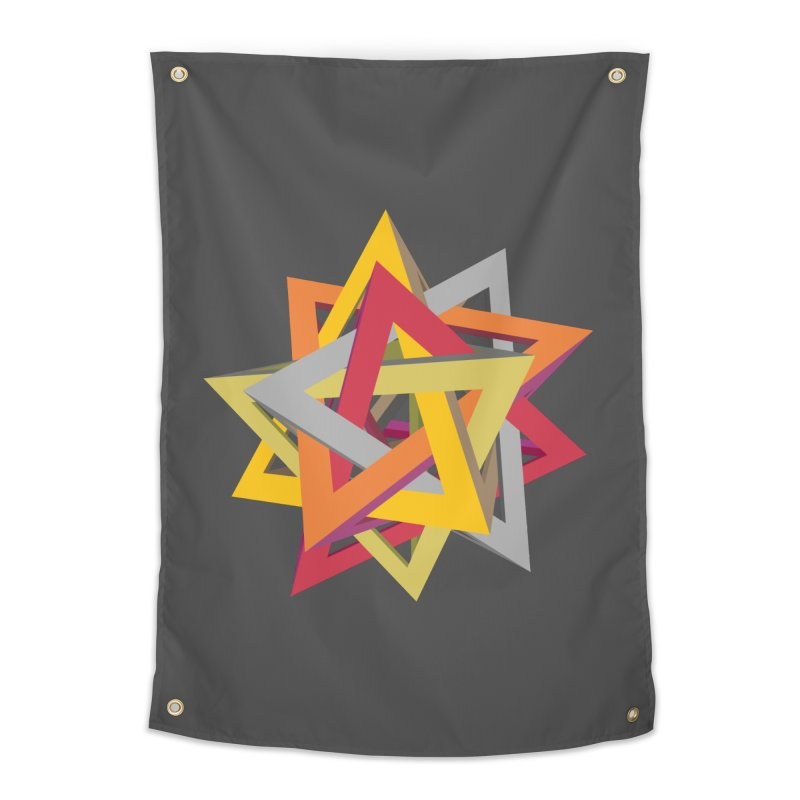TANGLED TRIANGLES Home Tapestry by Sidewise Clothing & Design
