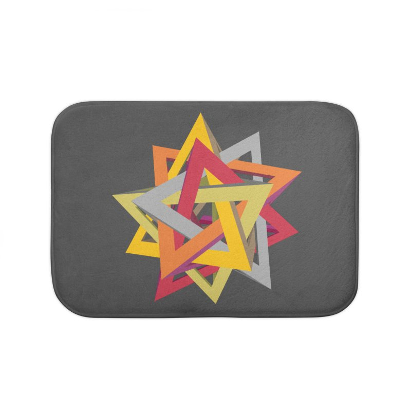 TANGLED TRIANGLES Home Bath Mat by Sidewise Clothing & Design