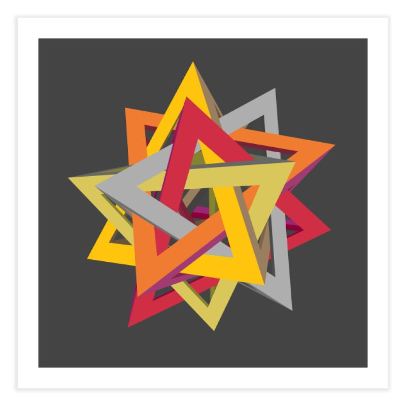 TANGLED TRIANGLES Home Fine Art Print by Sidewise Clothing & Design