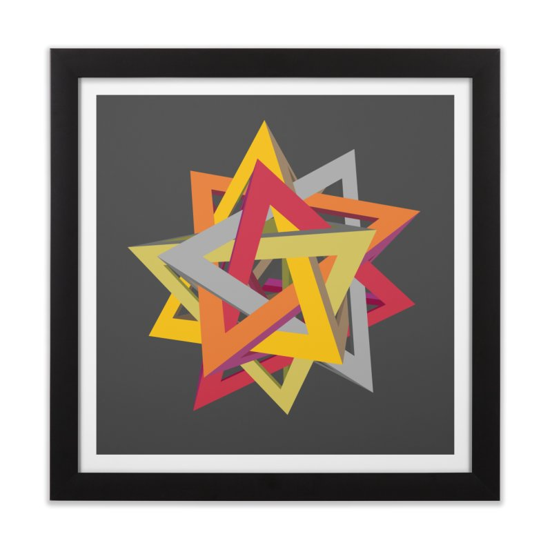 TANGLED TRIANGLES Home Framed Fine Art Print by Sidewise Clothing & Design