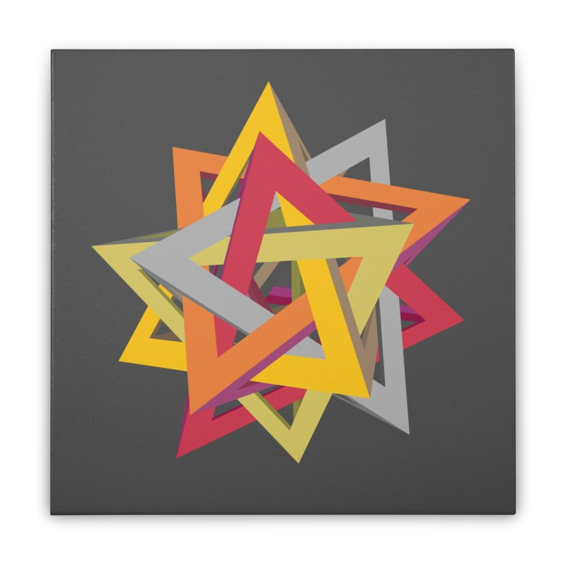 TANGLED TRIANGLES Home Stretched Canvas by Sidewise Clothing & Design