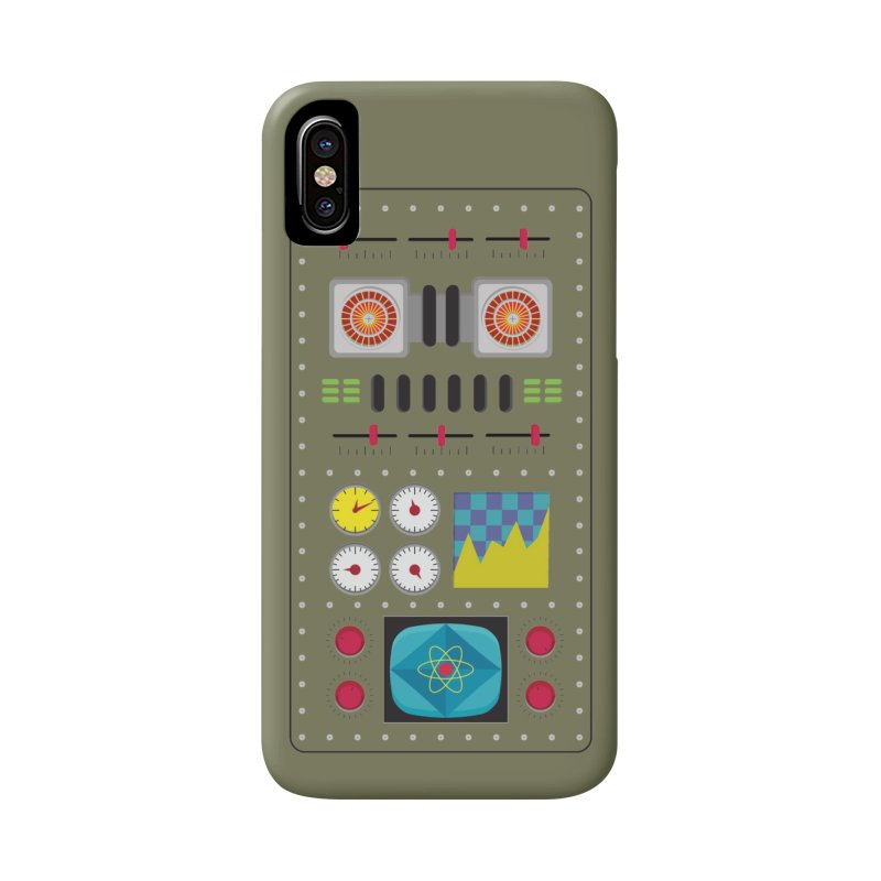 1950s RETRO STYLE VINTAGE ROBOT Accessories Phone Case by Sidewise Clothing & Design