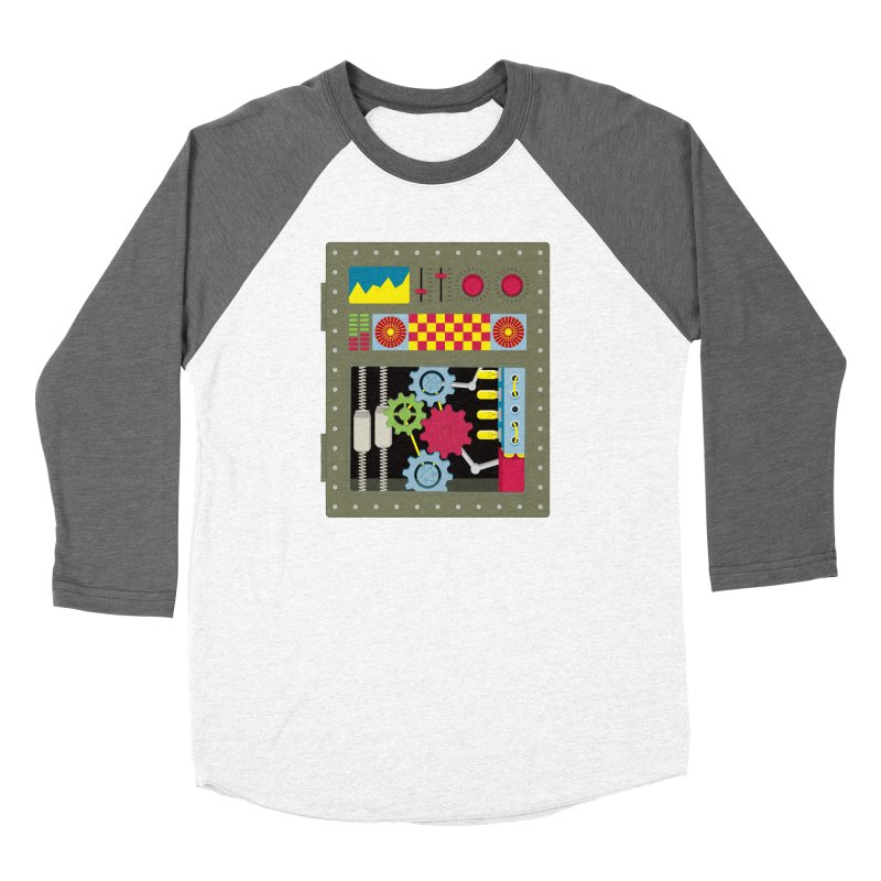 1950s RETRO STYLE VINTAGE ROBOT Women's Longsleeve T-Shirt by Sidewise Clothing & Design
