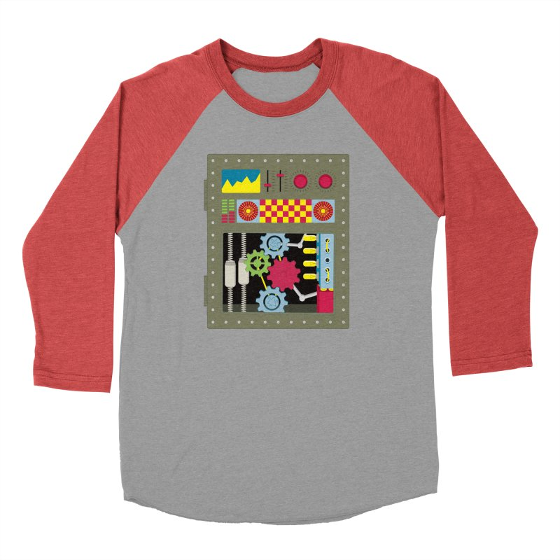 1950s RETRO STYLE VINTAGE ROBOT Men's Longsleeve T-Shirt by Sidewise Clothing & Design