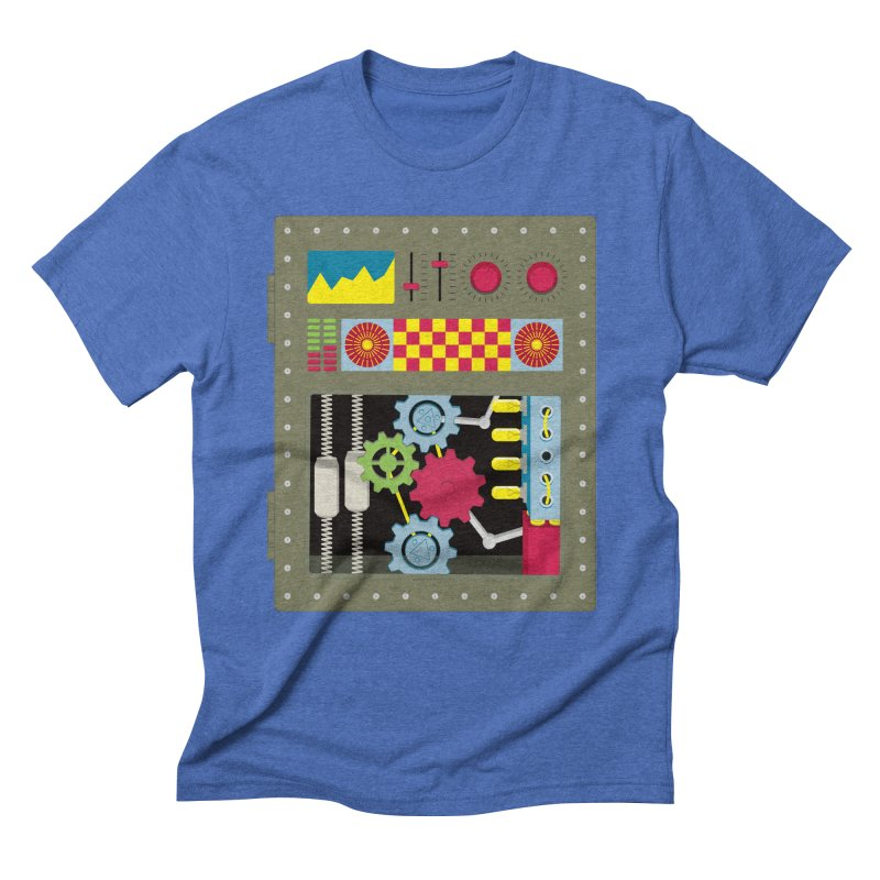 1950s RETRO STYLE VINTAGE ROBOT Men's T-Shirt by Sidewise Clothing & Design